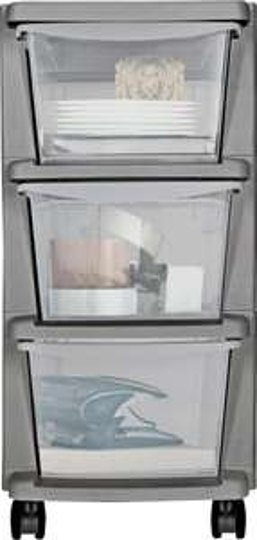 Argos Home Plastic 3 Drawer Silver Tower Storage Unit (free C&C) @ Argos - £5.99