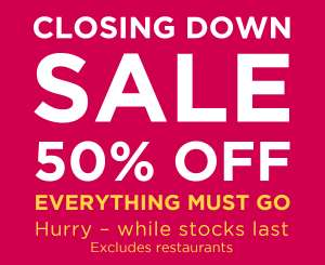 Closing Down SALE at Wyevale garden centre Syon Park – 50% off everything!