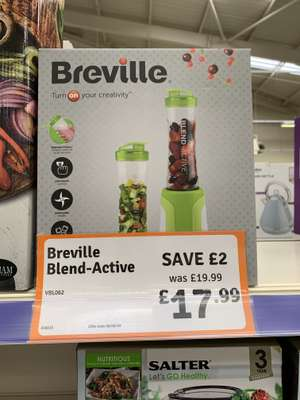 Breville blend active, personal smoothie maker 2x 600ml bottles £17.99 @ The Range