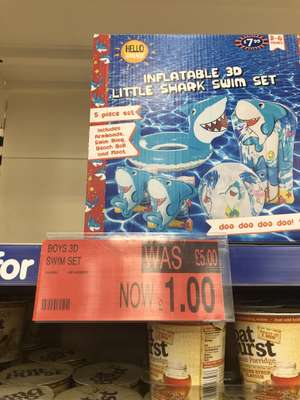 5 piece shark pool inflatables £1 instore at B&M