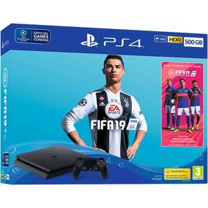 Sony Playstation PS4 500GB Console Black FIFA 19 Bundle - Refurbished £157.99 from eBay Argos