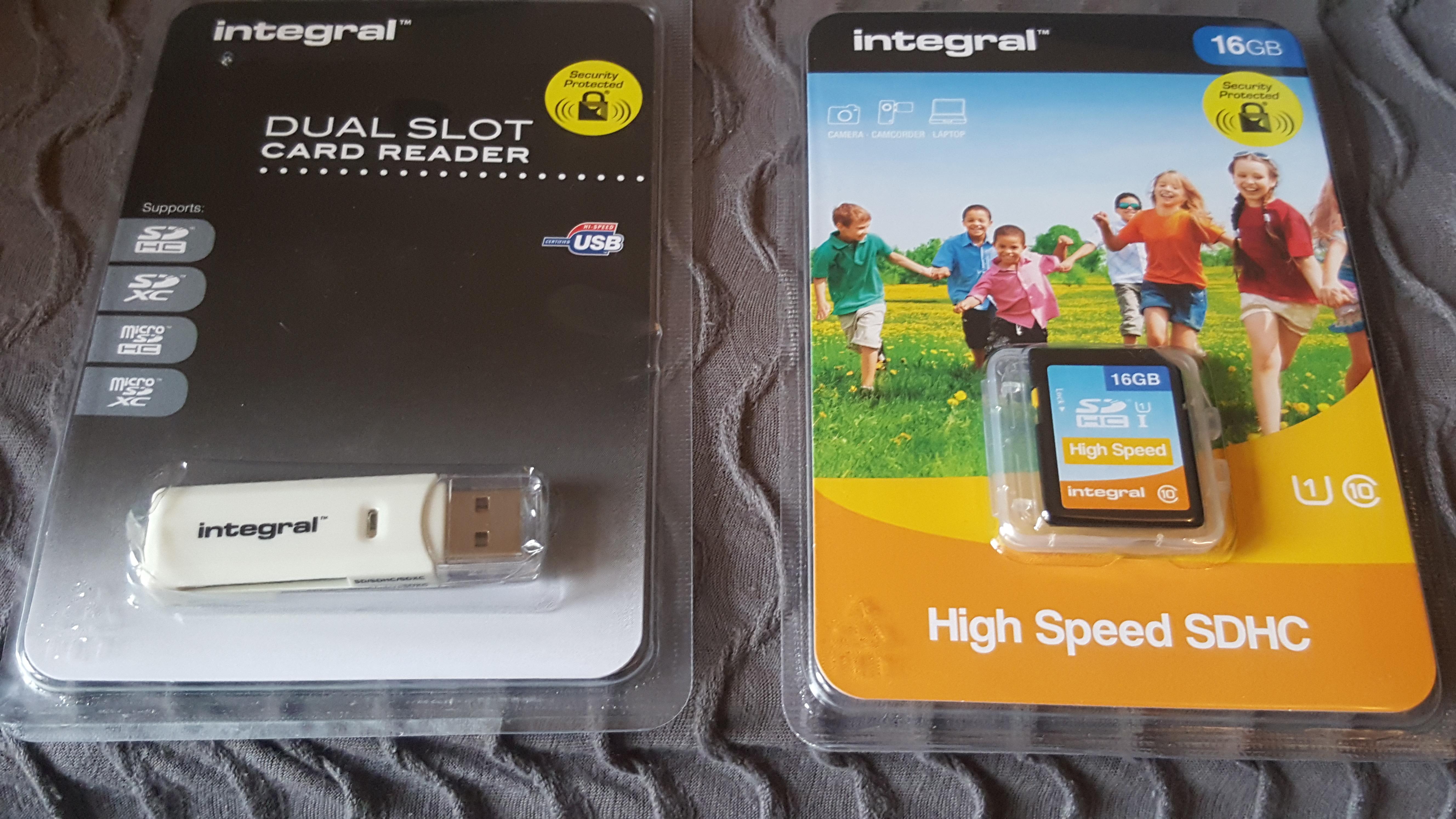 Intergral 16gb sdhc card £1.50 / Integral dual slot card reader £1.50 at Wilkinson Wakefield
