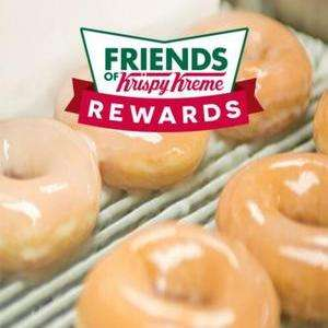 Free Krispy Kreme doughnut via App (Register multiple times for multiple doughnuts)