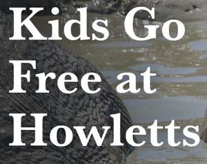 Kids go free during September with one full paying adult  @ Howletts Wildlife Park