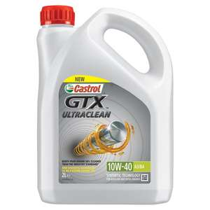 Castrol gtx ultraclean 10w-40 2 litres £3 at Tesco instore