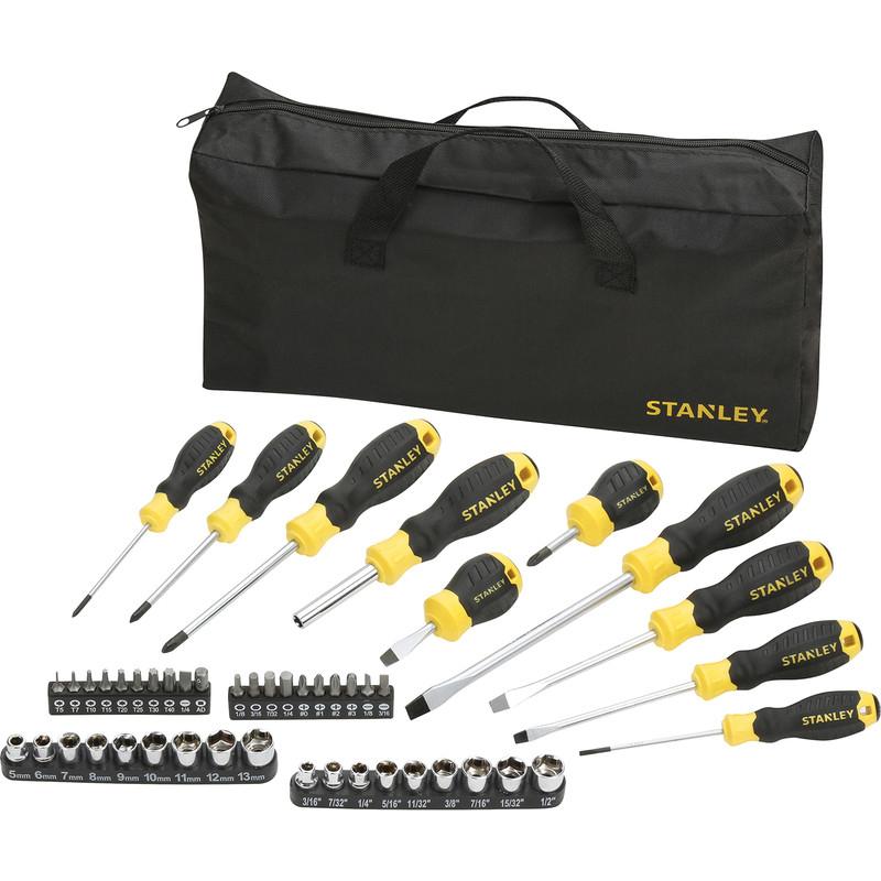 48 Piece Stanley Screwdriver Socket and Bit Set with Bag - £12.99 Delivered @ Toolstation (Free C&C)