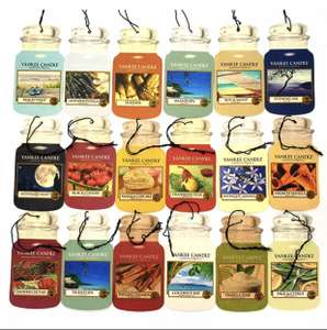 Yankee candles 9 assorted classic Car Cardboard Air Fresheners £10 (Possible £9.50 with new accounts code) @ Yankee Bundles
