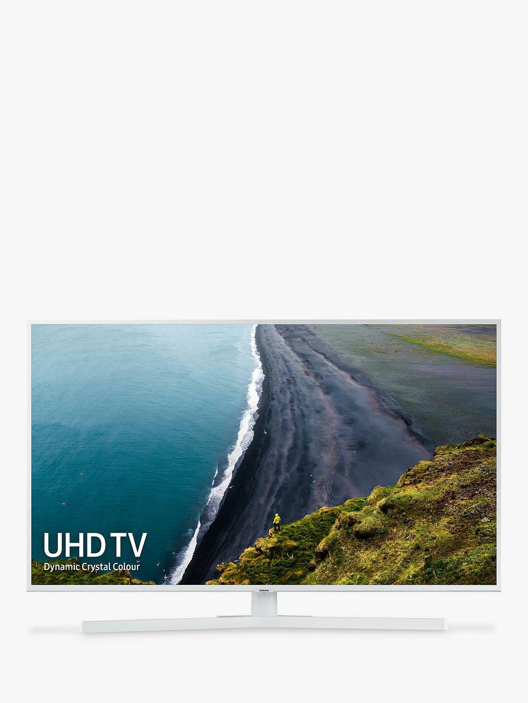 "Samsung UE43RU7410 (2019) HDR 4K Ultra HD Smart TV, 43"" with TVPlus/Freesat HD & Apple TV App, White£449 @JohnLewis+Partners"