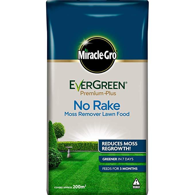 Miracle-Gro EverGreen Premium Plus No Rake Moss Remover Lawn Food 20kg - 200m2 now £19.99 (Prime) + £4.49 (non Prime) at Amazon