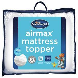 Silentnight Airmax Mattress Topper - Single £21.77 / Double £27.17 / King £32.97  Delivered @ Groupon - Two-year manufacturer's warranty