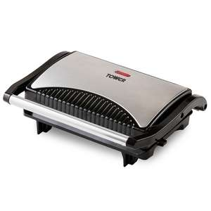 Tower Stainless Steel 750W Mini Panini Press £10.19 (C+C) £14.14 (Delivered) @ Robert Dyas