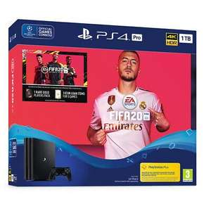 Sony PlayStation 4 (PS4) Pro 1TB with FIFA 20 (Preorder) £278.10 with code delivered @ AO eBay