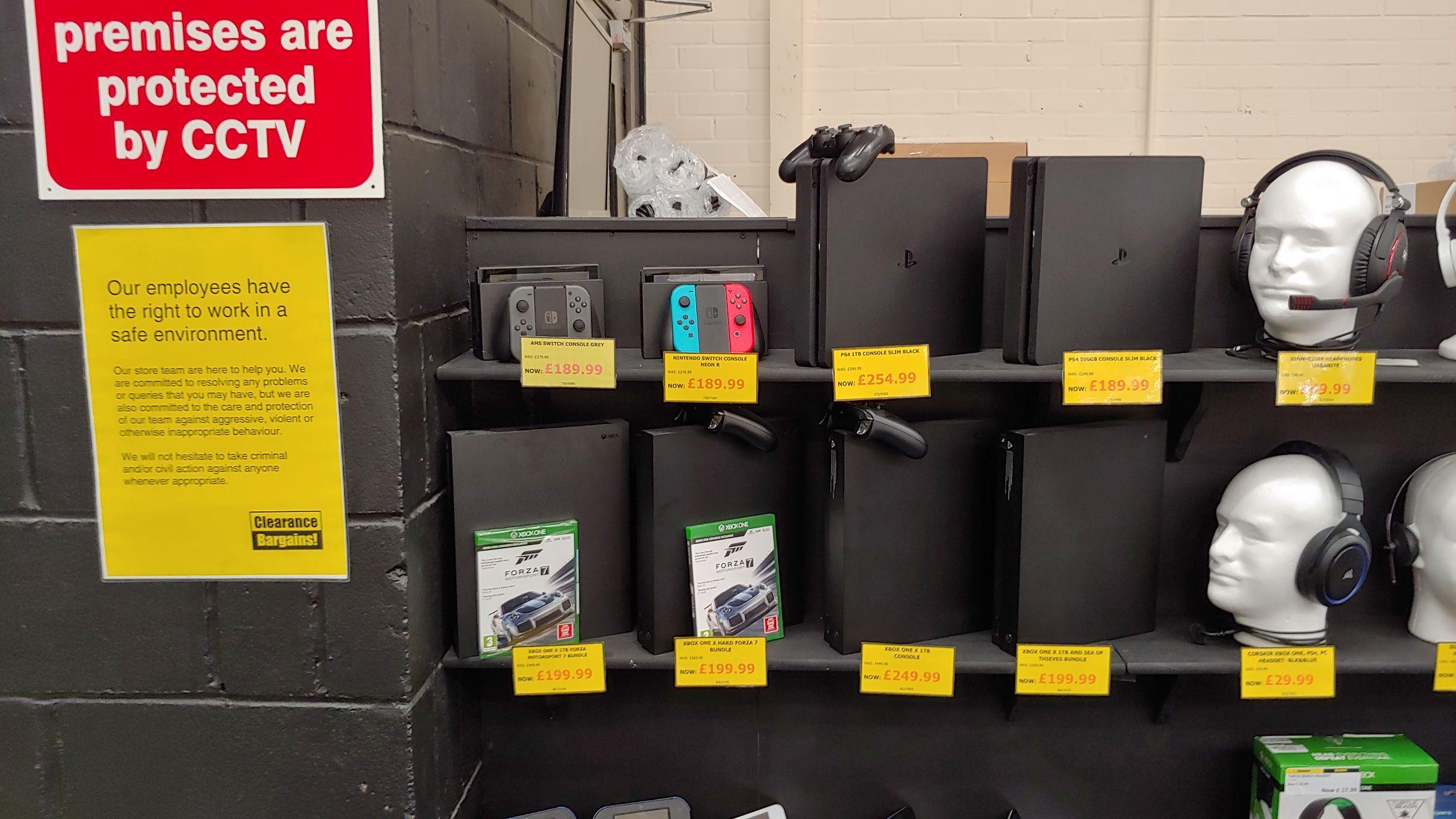 Nintendo Switch £189.99 / XBox One X - £199.99 at Argos Clearance Corby (refurb stock)