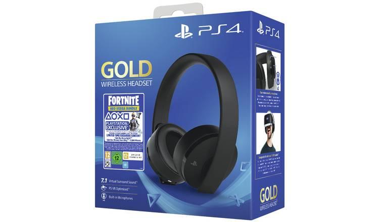 Sony Fortnite Wireless PS4 Headset Bundle - Gold @ Argos £49.99