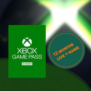 Xbox Game Pass Ultimate, 12 Month Membership £39.99 @ Dom's Daily Deals