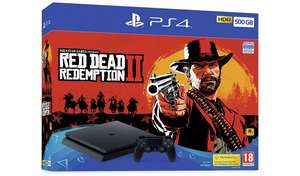 PS4 slim 500g Red Dead Redemption 2 bundle £229 @ Sainsburys