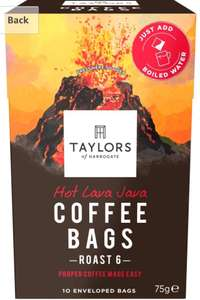 Taylor's of Harrogate Hot Lava Java Coffee Bags ( + Others ) - £2 @ Asda