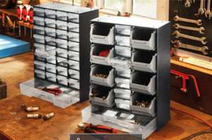 Small Parts Organiser with 17 Drawers |  33 Drawers  £8.99 @ Lidl