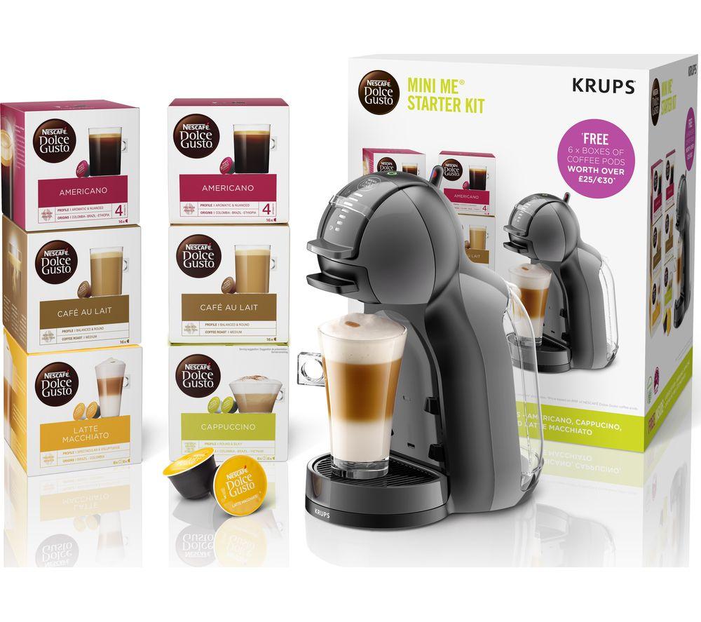 DOLCE GUSTO by Krups Mini Me KP120841 Coffee Machine Starter Kit - Black & Grey - £49.99 @ Currys