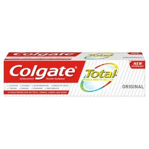 Colgate Total care/Active/Whitening Toothpaste £1.95 Tesco