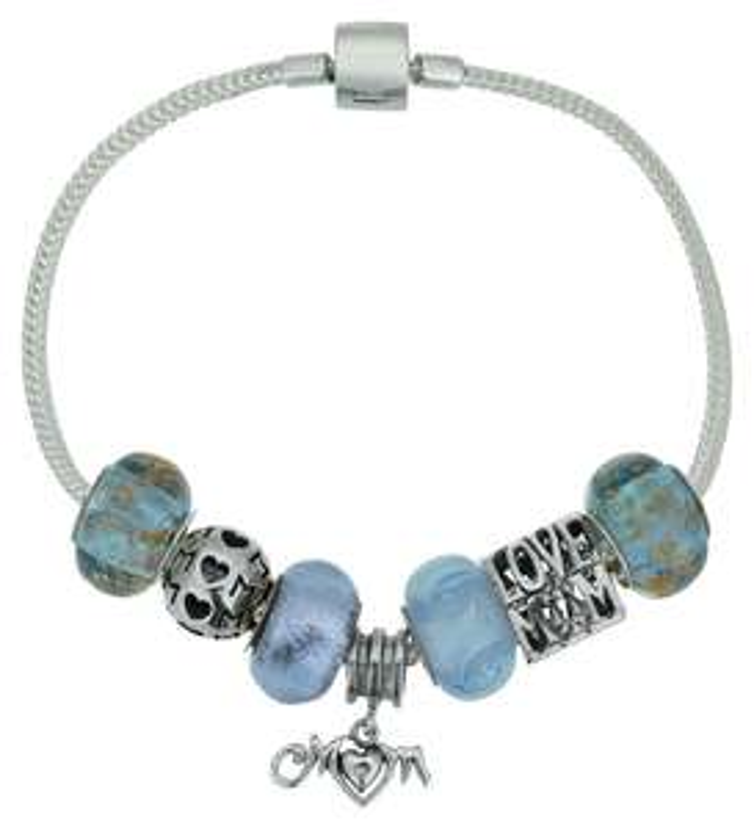 STERLING SILVER lilac/blue MUM bracelet - £6.99 @ Argos