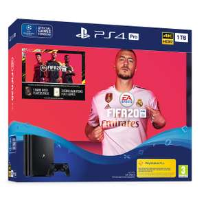 Pre order PS4 pro fifa 20 bundle £299 at AO.com with new newsletter sign up £10 off code