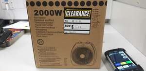 2000W fan heater clearance - reduced to £5.99 at Screwfix