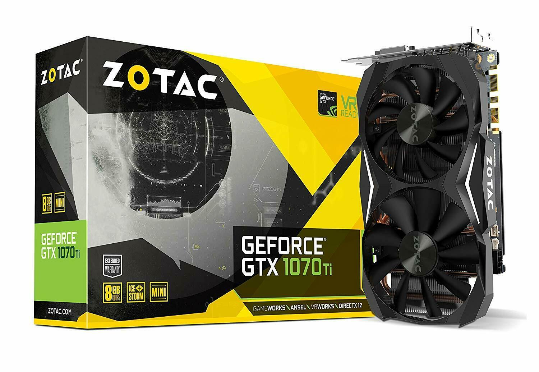 Zotac GeForce GTX 1070 Ti Mini 8 GB GDDR5 PCI Graphics Card Refurbished - Black £234 at stockmustgo eBay
