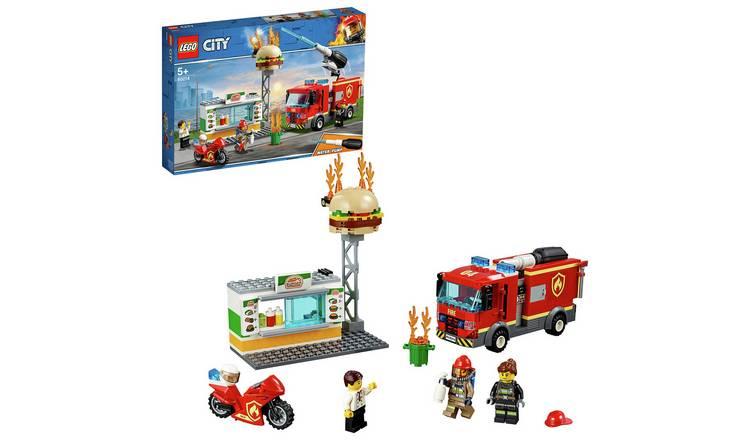 LEGO City Burger Bar Fire Rescue Toy Truck Playset- 60214 @ Argos free c&c