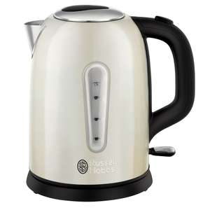 Russell Hobbs Cavendish Jug Kettle - Cream / Black+ 3 YRS Guarantee £19.99 Delivered @ Currys
