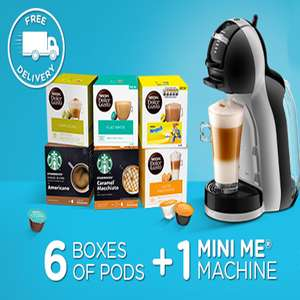 Dolce Gusto mini me coffee machine and 6 boxes of pods £39.99 @ Nescafe Dolce Gusto using code STUDENT2019