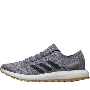 adidas Mens PureBOOST All Terrain Natural Running Shoes Footwear White/Core Black/Grey £44.98 delivered  MandM Direct