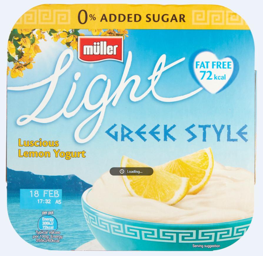 Muller Light Greek Lemon 4pk 2 for £1 or 69p each @ Heron Foods