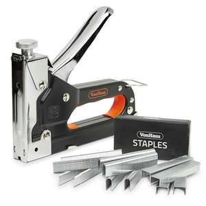 Staple & Nail Gun + 200 Staples, Cable Staples and Brad Nails £7.99 Delivered @ VonHaus - 2 Year Warranty