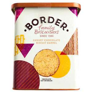Border Biscuit Barrel,600g biscuits are short dated. £3.99 & free P&P @ costmad ebay