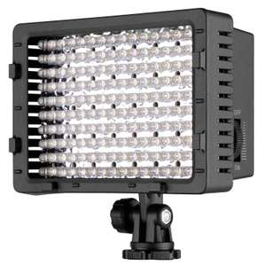 Neewer Dimmable High Powered 160 LED Light For DSLR Cameras + 2 Filters £13.79 Prime / £18.28 Non Prime with code @  Nashes Camspace & FBA