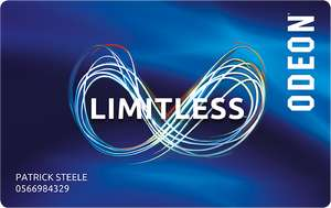 Odeon Limitless - 12 Months For The Price Of 10 With Code - £17.99pm x 10 Months = £179.90