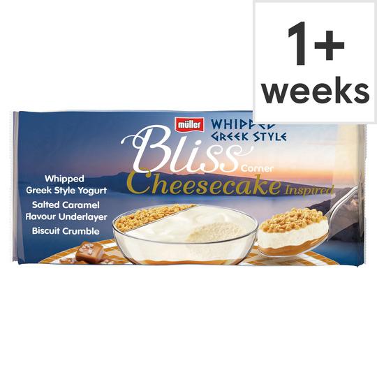 Muller Corner Bliss Cheesecake Salted Caramel 4 x 100G £1 @ Tesco.