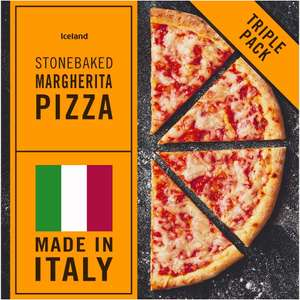 3 pack Iceland Stonebaked Margherita Pizzas - £1.50 - (Triple Pack - 852g)