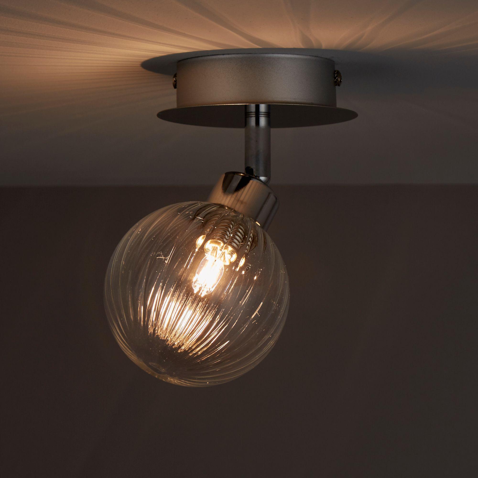 Eupraxia Chrome effect Mains-powered Spotlight Was £16, Now £4 @ B&Q (Free C&C) 2 Lamp Spotlight £8. More in OP - 2 Year Guarantee