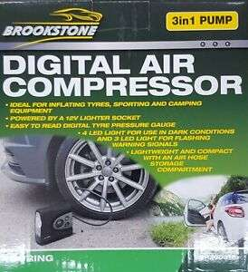 Brookstone 3in1 DIGITAL air compressor £6.99, in store Yorkshire Trading (Newark)