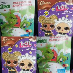 Kinnerton Chocolate Advent Calendars £1 in Poundland - LOL, The Grinch, Toy Story 4, Peppa Pig and more
