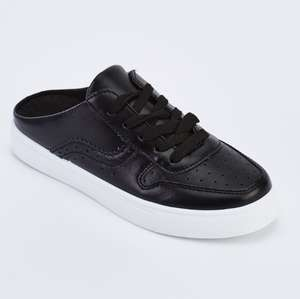 Faux Leather Slip On Trainers @ everything5pounds.com, £3.95 delivery.