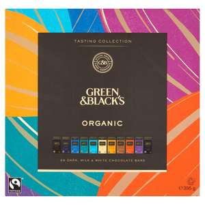Green & Black's Organic Tasting Collection Boxed Chocolates, 395g at Amazon - £7.66 (+£4,99 Non Prime) @ Amazon