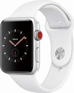 Apple Watch Series 3 GPS + Cellular 42mm Silver Aluminium Case with White Sport Band £214.19 delivered @ Appliances Direct