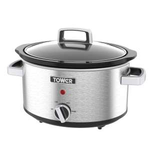 Tower T16018 3.5L Stainless Steel Slow Cooker £12.74 (C+C) £16.69 (Delivered) @ Robert Dyas