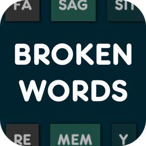 Broken Words PRO (Android Game) Temporarily FREE on Google Play