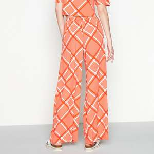 Red Herring - Red Check Print Loose Fit Wide Leg Full Trousers Size 16 £1 delivered with code @ Debenhams