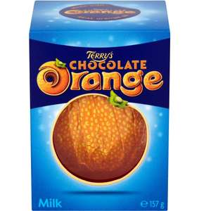 Terry's chocolate orange 157g £1 / 90p students at Co-op