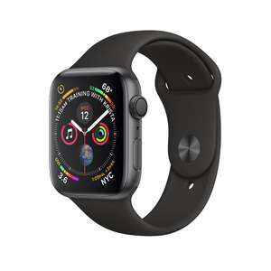 Refurbished Apple Watch Series 4 GPS, 44mm Space Grey Aluminium Case with Black Sport Band £319 Apple Store